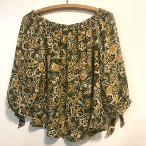 NY Collection Floral Blouse Women's PL